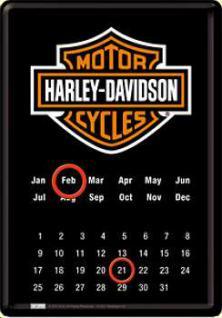 Blechpostkarte Harley-Davidson - Kalender
