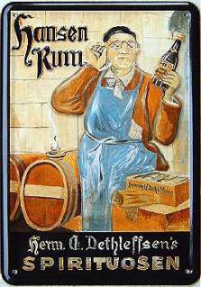 Blechpostkarte Hansen Rum - Vorschau