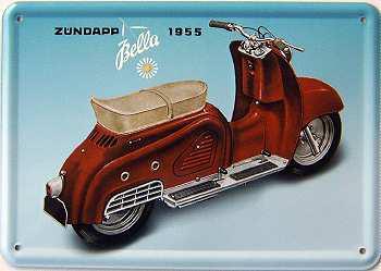 Blechpostkarte Zündapp Bella 1955