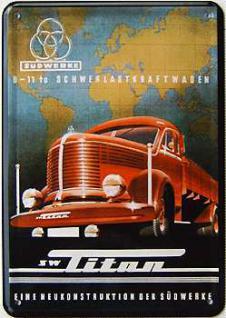 Blechpostkarte Titan LKW - Vorschau
