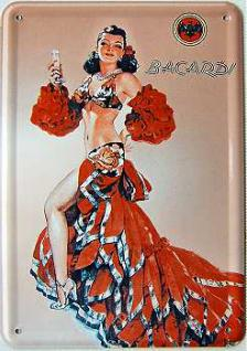 Blechpostkarte Bacardi Latina