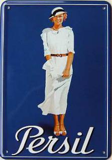 Blechpostkarte Dame mit Handschuh - Vorschau