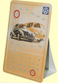 Blechpostkarte VW Kalender