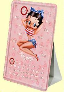 Blechpostkarte Betty Boop Kalender