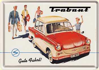 Blechpostkarte Trabbi Gute Fahrt - Vorschau