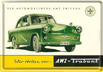 Blechpostkarte Trabbi AWZ - Vorschau