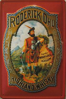 Roderick Dhu Highland Whisky Blechschild