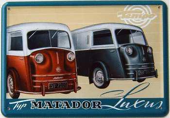 Blechpostkarte Matador Luxus - Vorschau