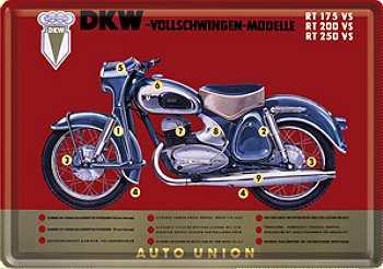 Blechpostkarte DKW Motorrad