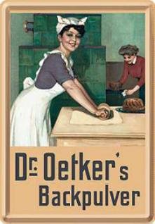 Blechpostkarte Dr. Oetker Backpulver
