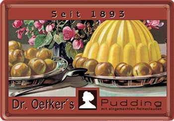 Blechpostkarte Dr. Oetker Reineclauden - Vorschau