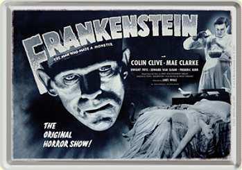 Blechpostkarte Frankenstein