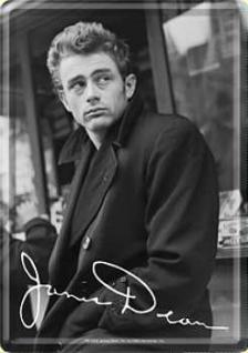 Blechpostkarte James Dean