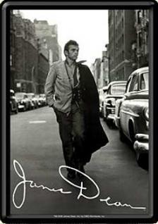 Blechpostkarte James Dean on the Road