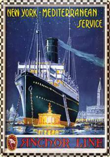 Blechpostkarte New York Mediterranean Service - Vorschau