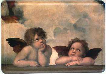 Blechpostkarte Engelchen
