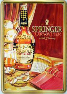 Blechpostkarte Springer Urvater - Vorschau
