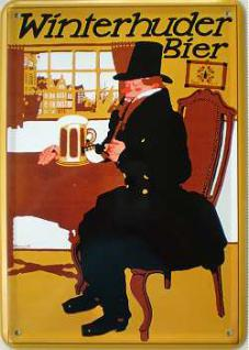Blechpostkarte Winterhuder Bier