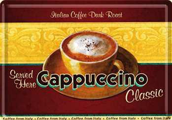Blechpostkarte Cappuccino