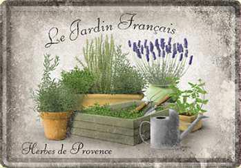 Blechpostkarte Le Jardin Francais - Vorschau