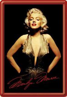 Blechpostkarte Marilyn Monroe Portrait