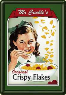 Blechpostkarte Mr. Crickles Crispy Flakes - Vorschau