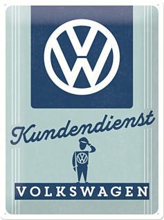 VW - Kundendienst Blechschild