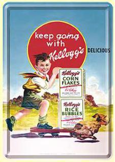 Blechpostkarte Kelloggs Keep Going - Vorschau