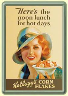 Blechpostkarte Kelloggs For Hot Days - Vorschau