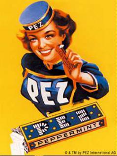 Magnet Pez Lady