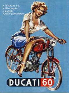 Magnet Ducati Pin Up Girl - Vorschau