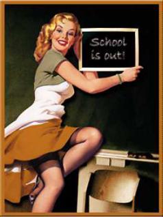 Magnet Pin Up Girl School is out - Vorschau