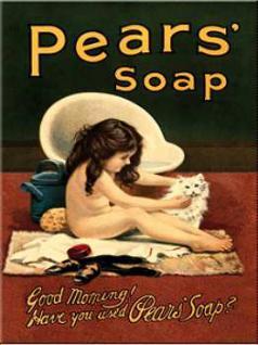 Magnet Pears Soap Mädchen mit Katze - Vorschau