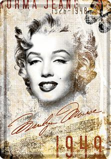 Blechpostkarte Marilyn Monroe Norma Jean - Vorschau