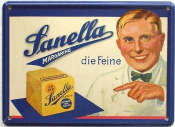 Sanella Margarine Mini Blechschild - Vorschau