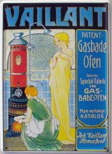 Vaillant Patent-Badeöfen Mini Blechschild - Vorschau