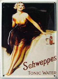 Schweppes Tonic Water Mini Blechschild