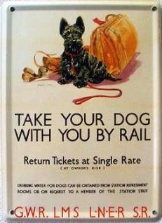 Take Your Dog With You By Rail Mini-Blechschild - Vorschau