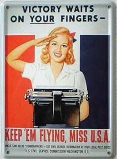 Keep 'em Flying Mini-Blechschild - Vorschau