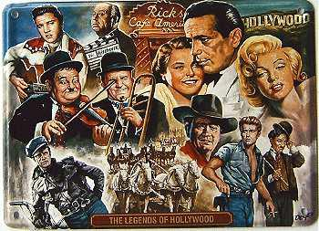 The Legends of Hollywood Mini Blechschild - Vorschau