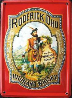 Roderick Dhu Highland Whisky Mini Blechschild