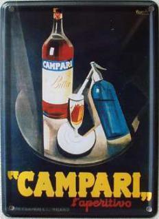 Campari Mini Blechschild