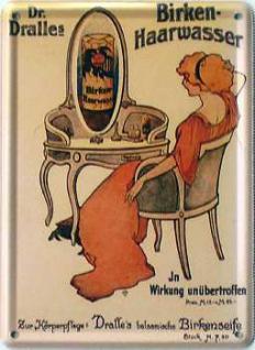 Dr. Dralles Birken-Haarwasser Mini Blechschild - Vorschau