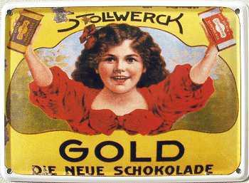Stollwerck Gold Mini Blechschild - Vorschau