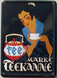 Teekanne Mini Blechschild - Vorschau