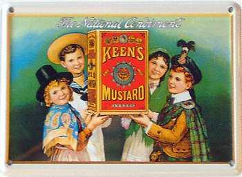 Keens Mustard Mini Blechschild - Vorschau
