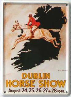 Dublin Horse Show Mini Blechschild - Vorschau