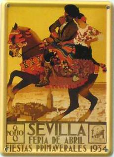 Sevilla Pferd Mini Blechschild - Vorschau