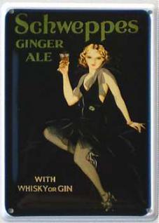 Schweppes Ginger Ale Mini Blechschild - Vorschau