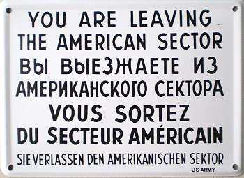 You Are Leavin the American Sector Blechschild - Vorschau